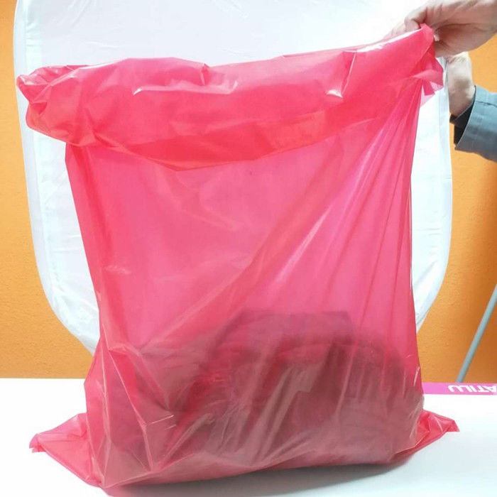 TDS 710mmx990mm 25um Water Soluble Laundry Bags With Red Tie